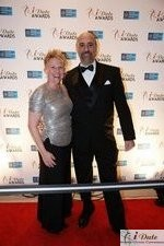 Julie Ferman (Cupid's Coach) and Paul Falzone (eLove) auf der 2010 Internet Dating Industrie Awards Zeremonie in Miami