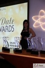 Award Model Andrea O'Campo in Miami at the January 28, 2010 Internet Dating Industry Awards