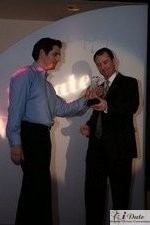 Match.com receiving Best Dating Site Design Award in Miami at the January 28, 2010 Internet Dating Industry Awards