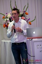 Chas McFeely (CEO of HuookChasUp.com) at the 2011 Online Dating Industry Conference in Los Angeles