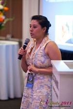 Monica Ohara (Director of Marketing at SpeedDate) at the 2011 L.A. 在線 Dating Summit and Convention