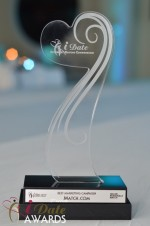 The iDate Award Trophy at the 2012 iDate Awards