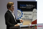 Florian Braunschweig (CTO of Lovoo) at the September 10-11, 2012 Mobile and Online Dating Industry Conference in Koln