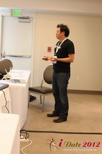 Andy Kim (CEO of Mingle)  at the 2012 L.A. Mobile Dating Summit and Convention