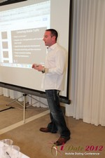 Ryan Gray (Co-Founder of IMGrind) at the Mobile Marketing Pre-Conference at the 2012 Los Angeles Mobile Dating Summit and Convention
