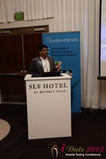 Santanu Basu (Sr Product Manager at Bing) at the 2012 California Mobile Dating Summit and Convention