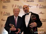 Dr. Warren & Paul Falzone at the 2013 iDate Awards Ceremony