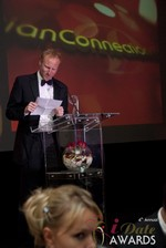 Dan Winchester reading on behalf of ChristianConnection.co.uk, winner of Best Niche Dating Site at the 2013 Las Vegas iDate Awards Ceremony