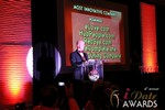 Sam Moorcroft announcing the Most Innovative Company at the 2013 iDateAwards Ceremony in Las Vegas held in Las Vegas