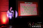 Maria Avgitidis announcing the Best Dating Software and SAAS at the 2013 Las Vegas iDate Awards