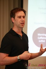 Author Neal Cabage Of The Smarter Startup at the 38th Mobile Dating Industry Conference in Beverly Hills