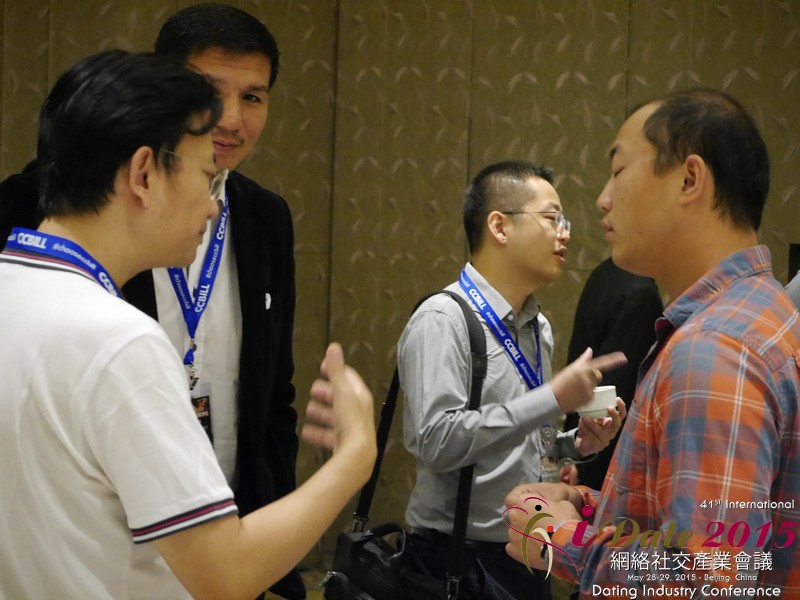 Business Networking  among C-Level Dating Industry Executives at the 2015 Asia Online Dating Industry Conference in China