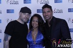 Sean Christian, Carmelia Ray and Doron Kim at the 2015 iDate Awards Ceremony