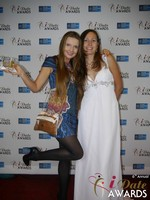 Svetlana Mucha and Elena Kolyasnikova at the 2015 iDate Awards Ceremony