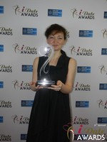 Irina Stepanova from PG Dating Pro - Winner of Best Dating Software & SAAS at the 2015 Las Vegas iDate Awards Ceremony