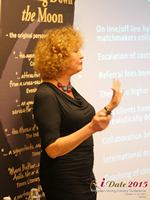 Mary Balfour CEO And Managing Director Of Drawing Down The Moon  at the United Kingdom iDate conference and expo for matchmakers and online dating professionals in 2015