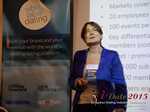 Pauline Tourneur General Manager Of Attractive World Speaking On The French Online And Mobile Dating Market  at the 12th annual U.K. & E.U. iDate conference matchmakers and online dating professionals in London