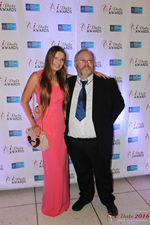 Media Wall Svetlana Mukha and Wayne May in Miami at the January 26, 2016 Internet Dating Industry Awards