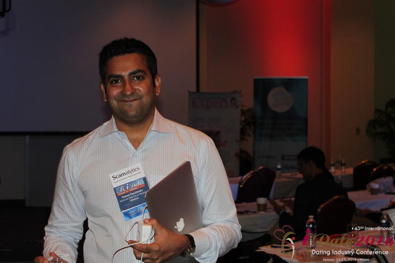 Тушар Чаудхари,  руководитель направления продуктов, компании Verizon на  конференции индустрии мобильных знакомств iDate 2016, в Майами