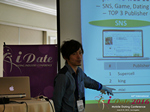 Takuya Iwamoto (Diverse-yyc-co-jp)  at the 38th iDate Mobile Dating Indústria Trade Show