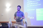 Taha Yasseri, Research Fellow in Computational Social Science from University of Oxford, presenting a statistical description of mobile dating communications. на Londres Euro e Reino Unido Выставке и Конвенции по мобильному и Интернет-дейтингу 2016
